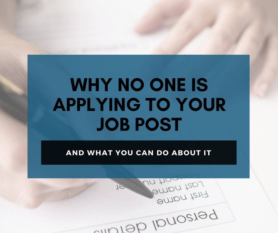 Why No One Is Applying To Your Job Post (And What You Can Do About It) - WD Gigs